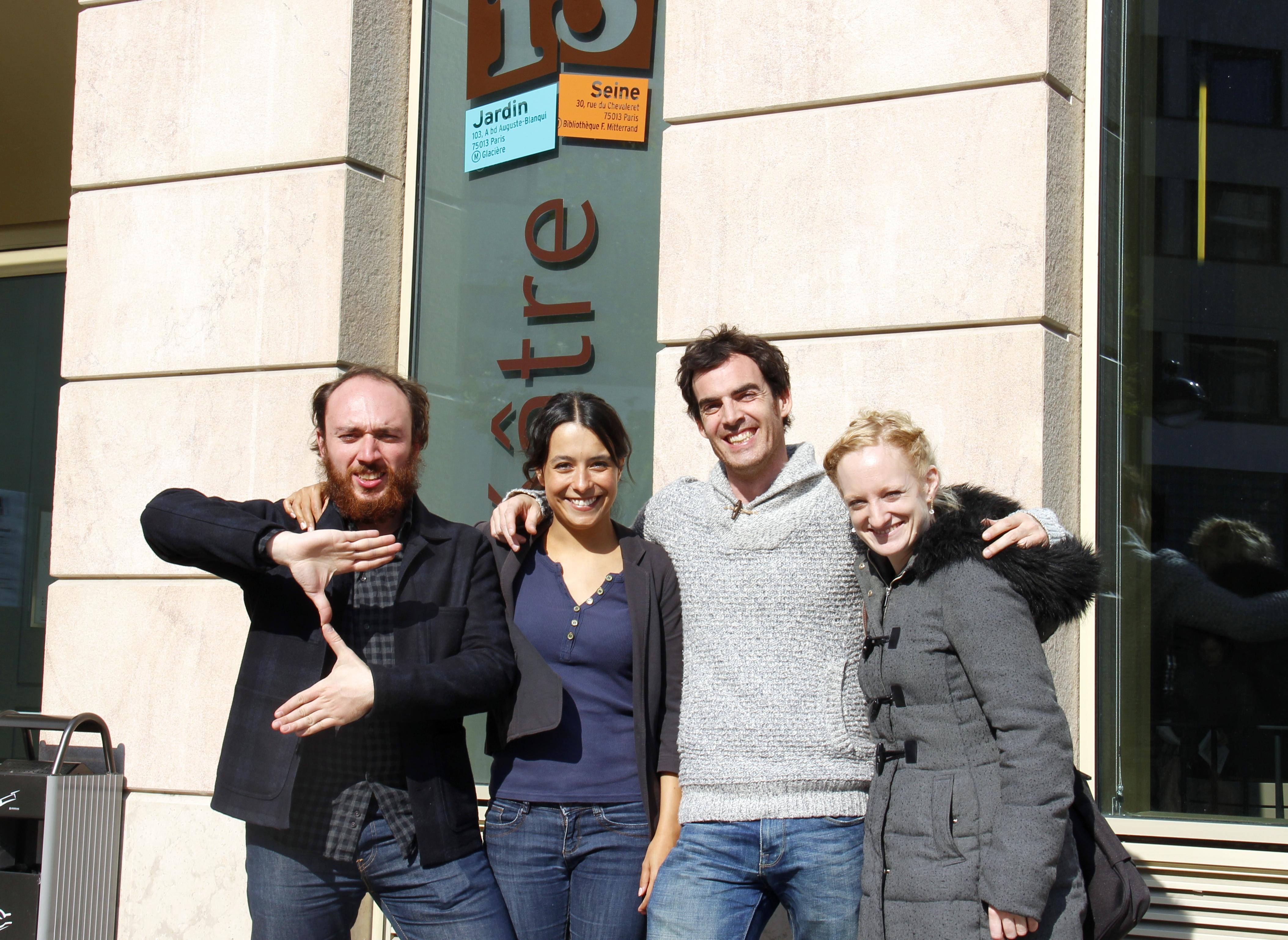 De gauche à droite : Thomas NUCCI, Katia GHANTY, Victorien ROBERT et Aymeline ALIX. Crédits : Pierre Monastier pour Profession Spectacle.