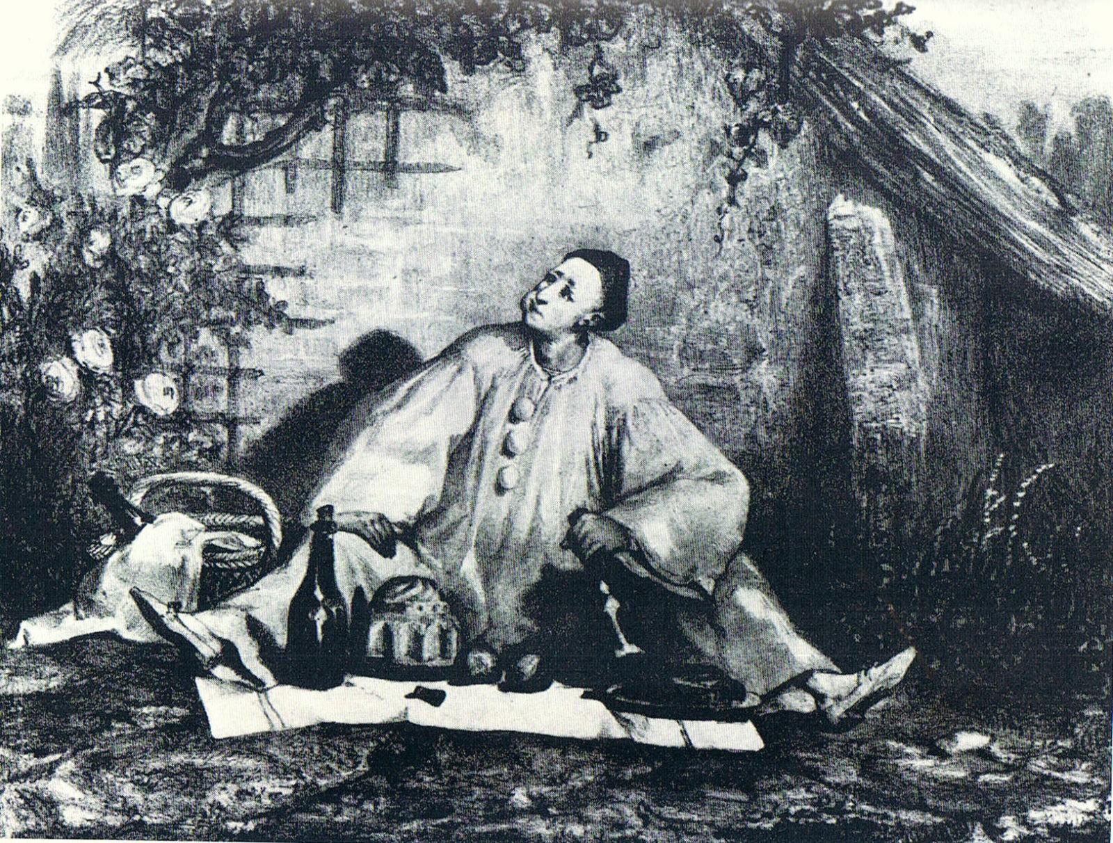 Auguste Bouquet - Deburau en Pierrot (vers 1830)