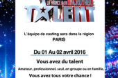 PARIS – Casting pour « La France a un incroyable talent » les 1er et 2 avril