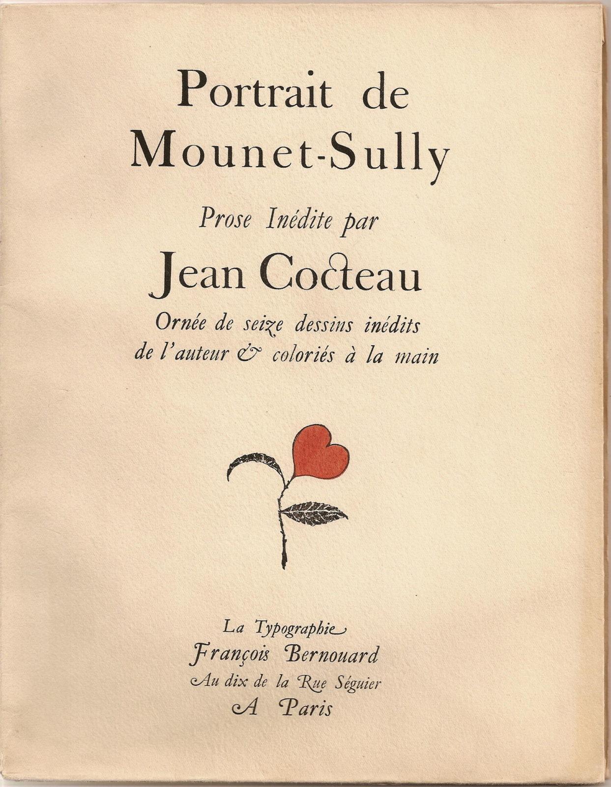 Jean Cocteau - Portrait de Mounet-Sully