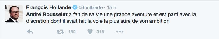 François Hollande sur André Rousselet