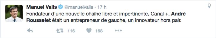 Manuel Valls sur André Rousselet