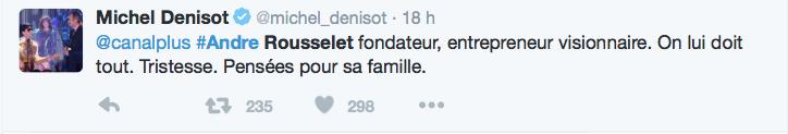Michel Denizot sur André Rousselet