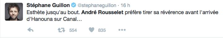 Stéphane Guillon sur André Rousselet