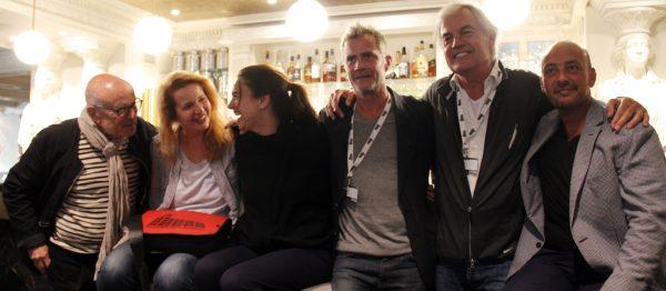 Volker Schlöndorff et le jury : Ivona Juka, Natali Broods, Pierre Dherte, Derek De Lint et Emanuele Crialese.