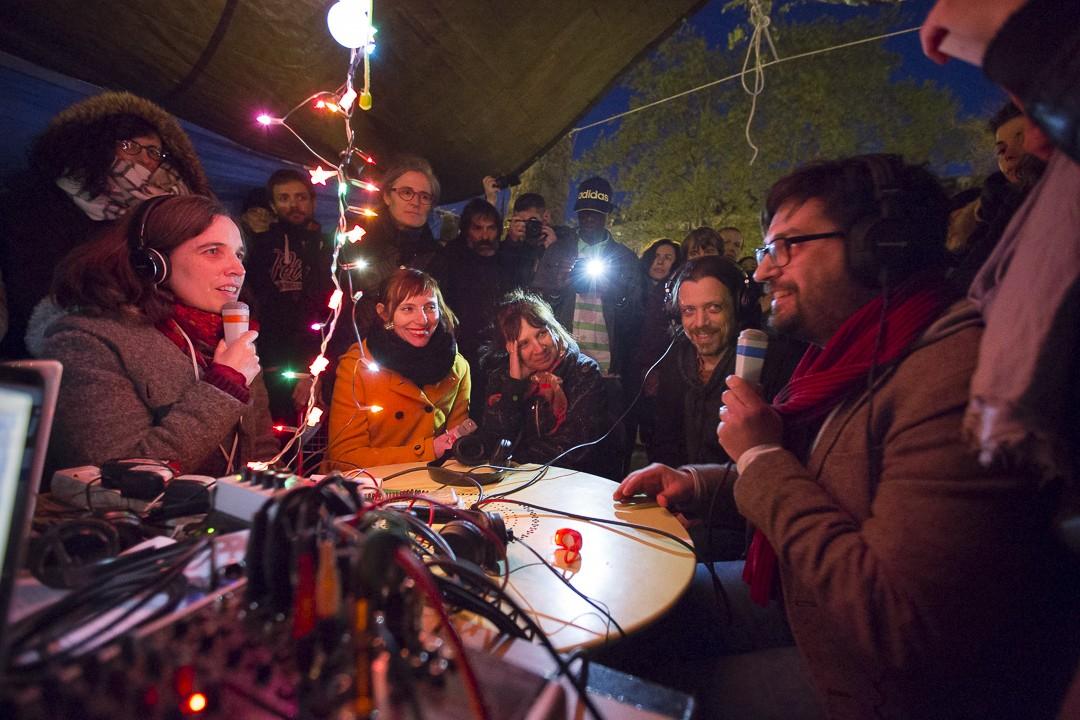 Passage de l'Occupation Bastille à Nuit Debout (crédits : Pierre Grosbois)