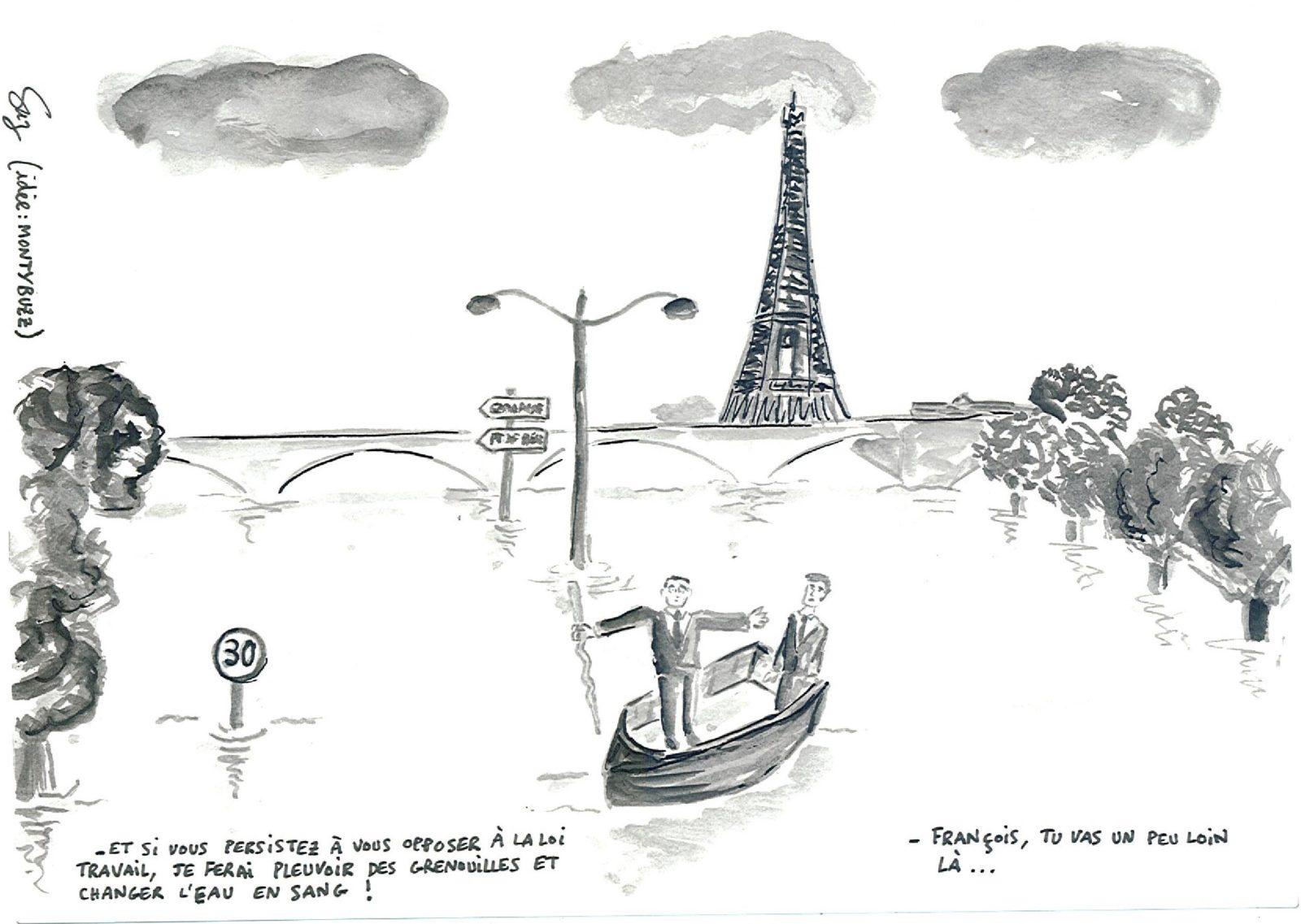 Suz - Paris inondé - 6 juin 2016
