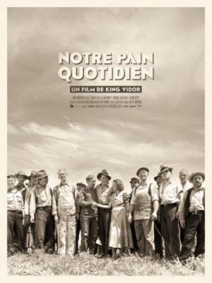 Affiche Notre pain quotidien, film de King Vidor, avec Karen Morley, Tom Keene, Barbara Pepper