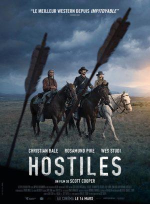 Affiche de Hostiles, film western de Scott Cooper, avec Christian Bale, Rosamund Pike