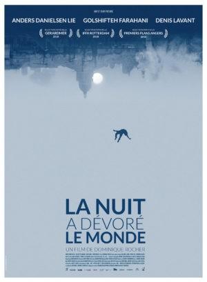 Affiche de La Nuit a dévoré le monde, film de Dominique Rocher, avec Anders Danielsen Lie, Golshifteh Farahani, Denis Lavant