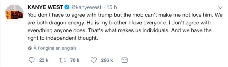 Donald Trump et Kanye West sur Twitter