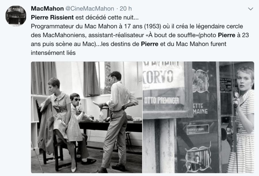 Cinéma MacMahon : hommage à Pierre Rissient