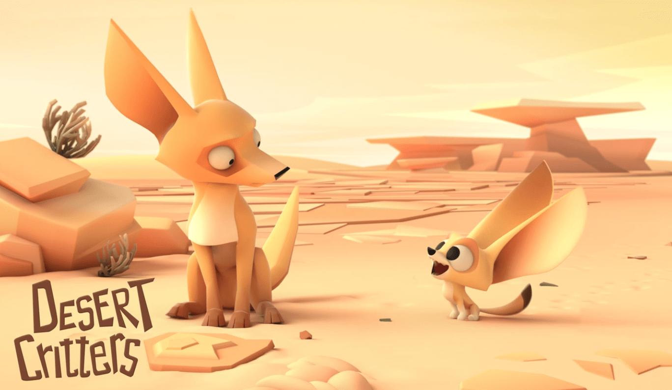 «Desert Critters» : une animation vidéo sur l'amitié entre deux animaux en plein désert