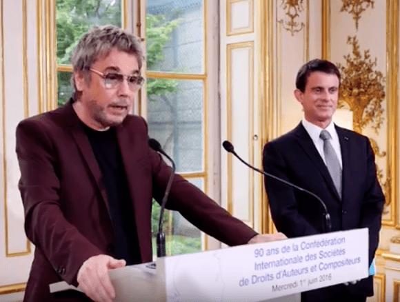 La CISAC, Jean-Michel Jarre et des auteurs du monde entier reçus par Manuel Valls