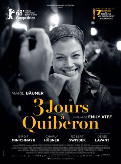 Emily Atef, 3 jours à Quiberon, avec Marie Bäumer (affiche)