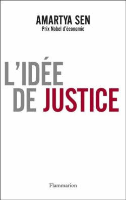 Amartya Sen - L'idée de justice, couverture livre Flammarion