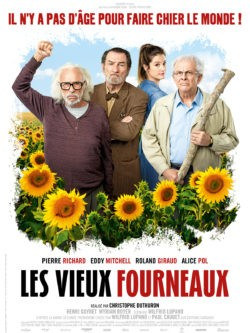 Christophe Duthuron, Les Vieux Fourneaux, avec Pierre Richard, Eddy Mitchell, Roland Giraud et Alice Pol (affiche)