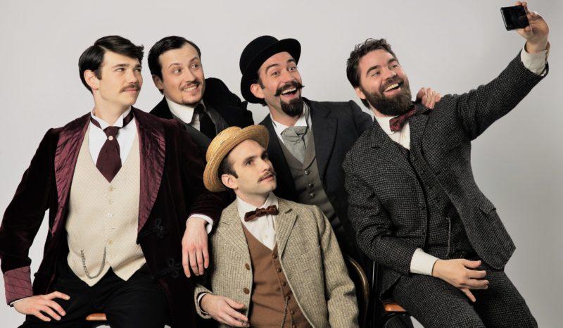 Cie Les Inspirés - Maxence Gaillard, Emmanuel Gaury, Guillaume d'Harcourt, Nicolas Poli, Mathieu Rannou (crédits : Steven Herteleer)