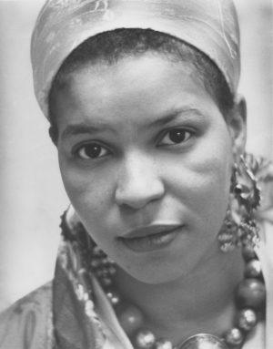 Ntozake Shange en novembre 1978 (crédits - Barnard College — Barnard College Archives)