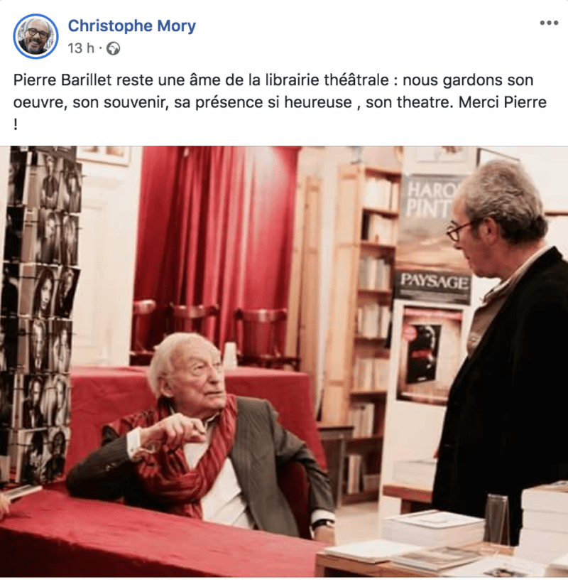 Christophe Mory - Pierre Barillet - RIP hommage