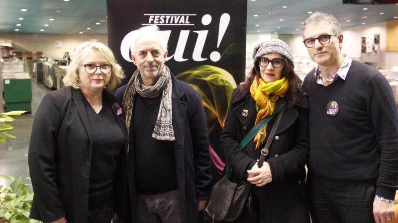 Mathilde Mottier, Guy Delamotte, Véronique Dahuron et François Vila (crédits Pierre Monastier)