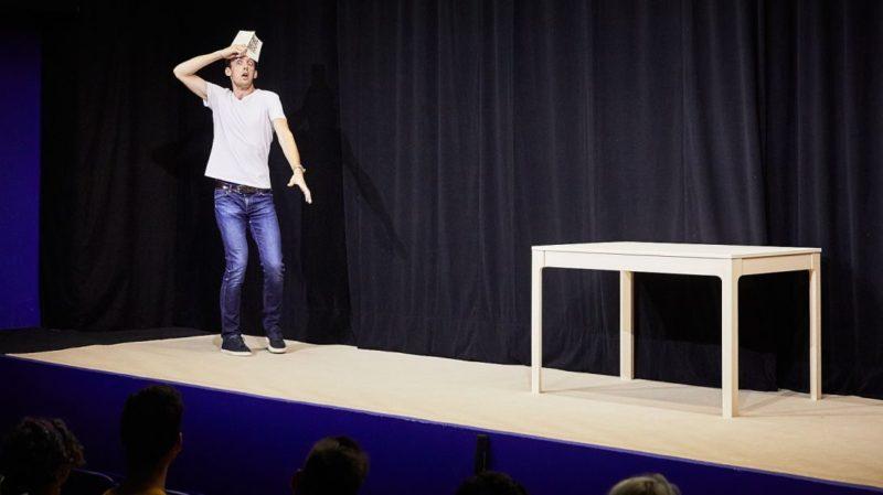 Romain Daroles dans Phèdre ! (© Christophe Raynaud de Lage)