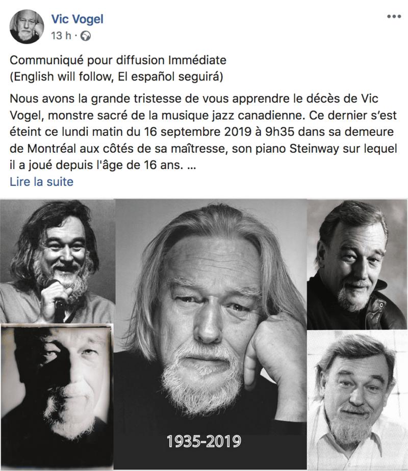RIP Vic Vogel