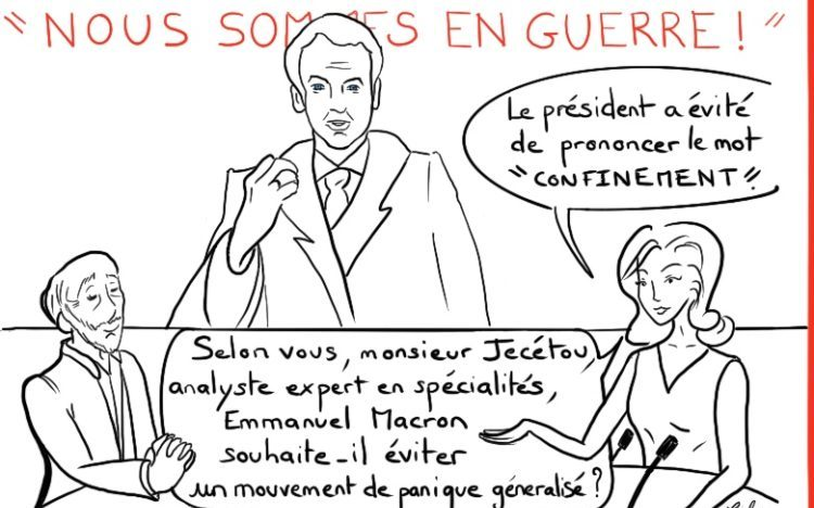 Caly Coronavirus Emmanuel Macron Nous sommes en guerre confinement