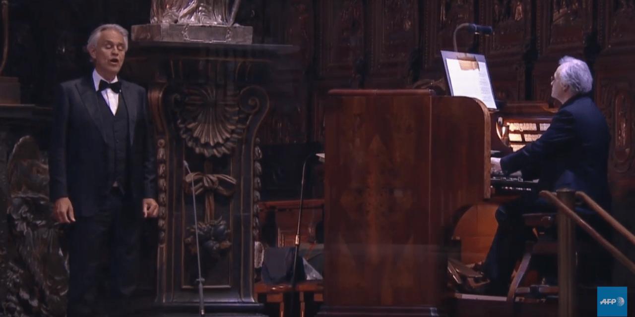 Vidéo. Coronavirus : la voix d'Andrea Bocelli pour Pâques dans un Duomo vide