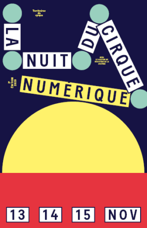 Affiche numérique Nuit du Cirque