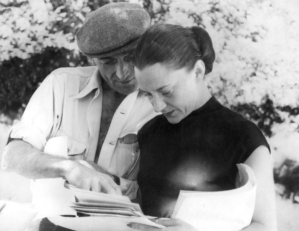 Jean Vilar et Maria Casarès en répétition au Verger Urbain V, Avignon, 1954 (© D.R.)