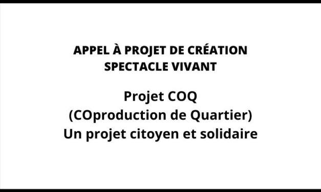 APPEL À PROJET DE CRÉATION SPECTACLE VIVANT : Projet COQ