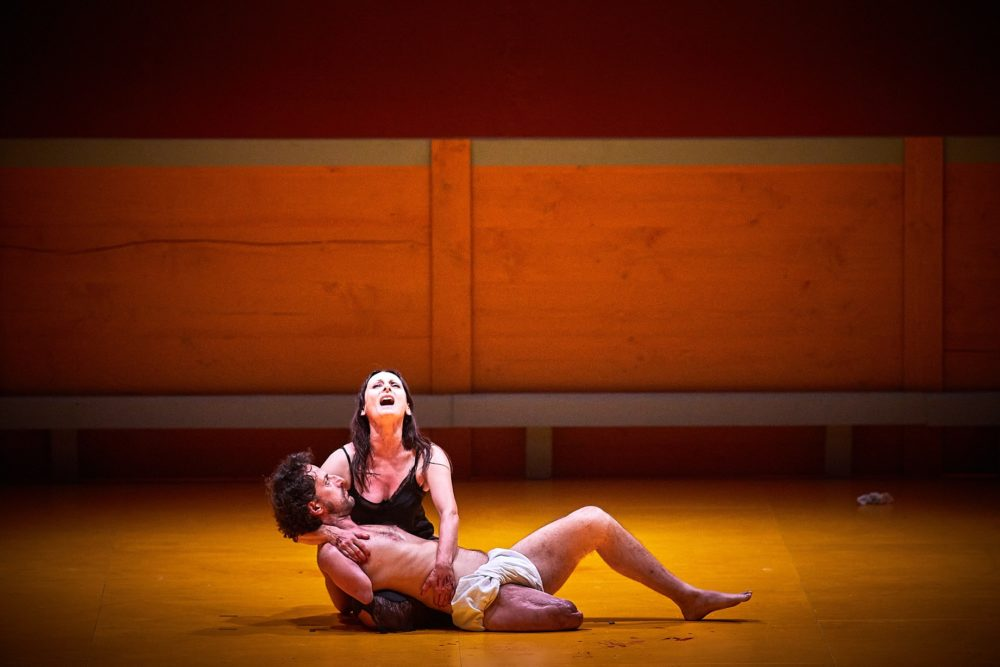 """""""Liebestod"""" d'Angelica Liddell (© Christophe Raynaud de Lage / Festival d'Avignon)"""