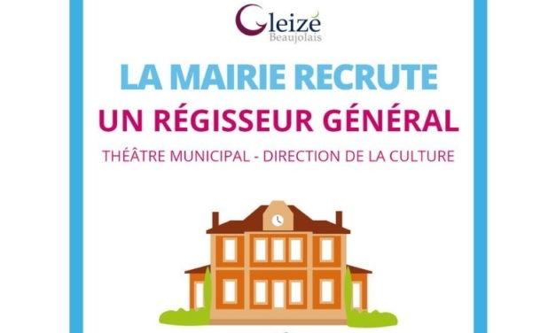 Rhône – La commune de Gleizé recrute un régisseur général (h/f)